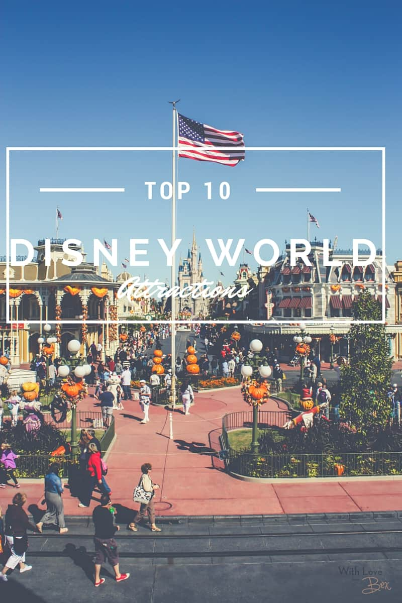 Top 10 WDW attractions