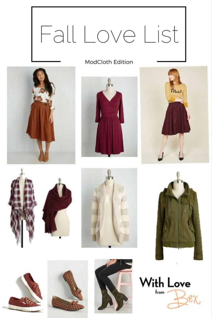 Fall Love List ModCloth Ed