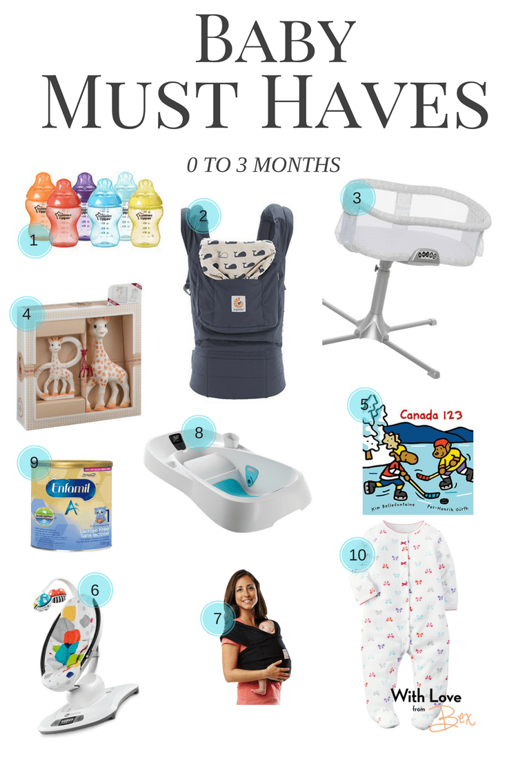 Baby Must Haves 0 to 3 months