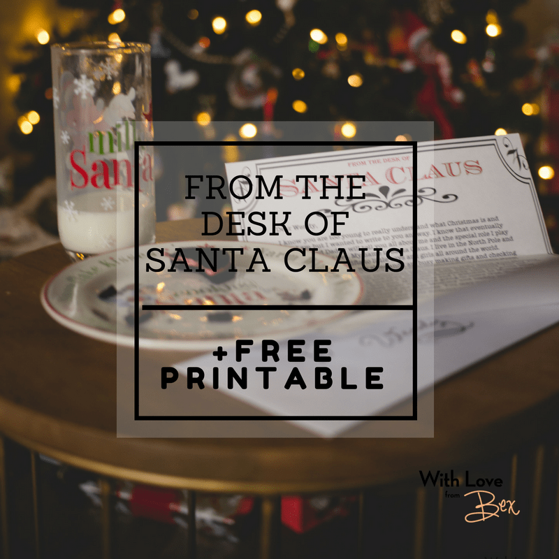 From the Desk of Santa Claus [Free Printable Letterhead]