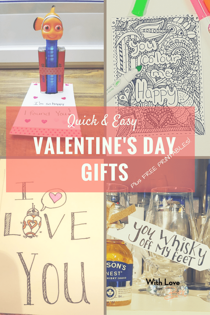 Easy Valentine's Day Gifts + Free Printables!
