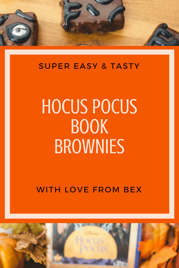 Hocus Pocus Easy Book Brownies