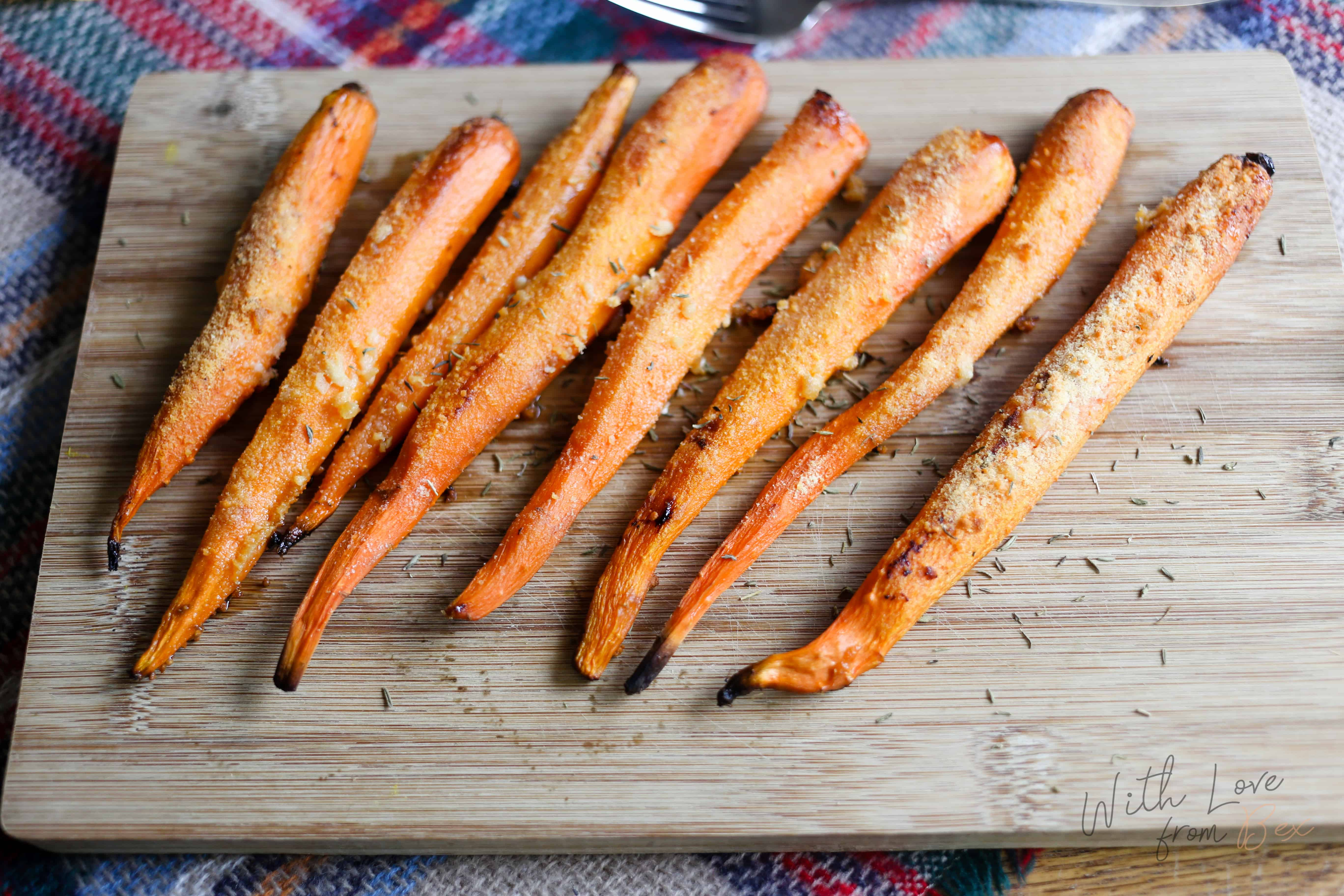 Roasted Parmesan Garlic Carrots