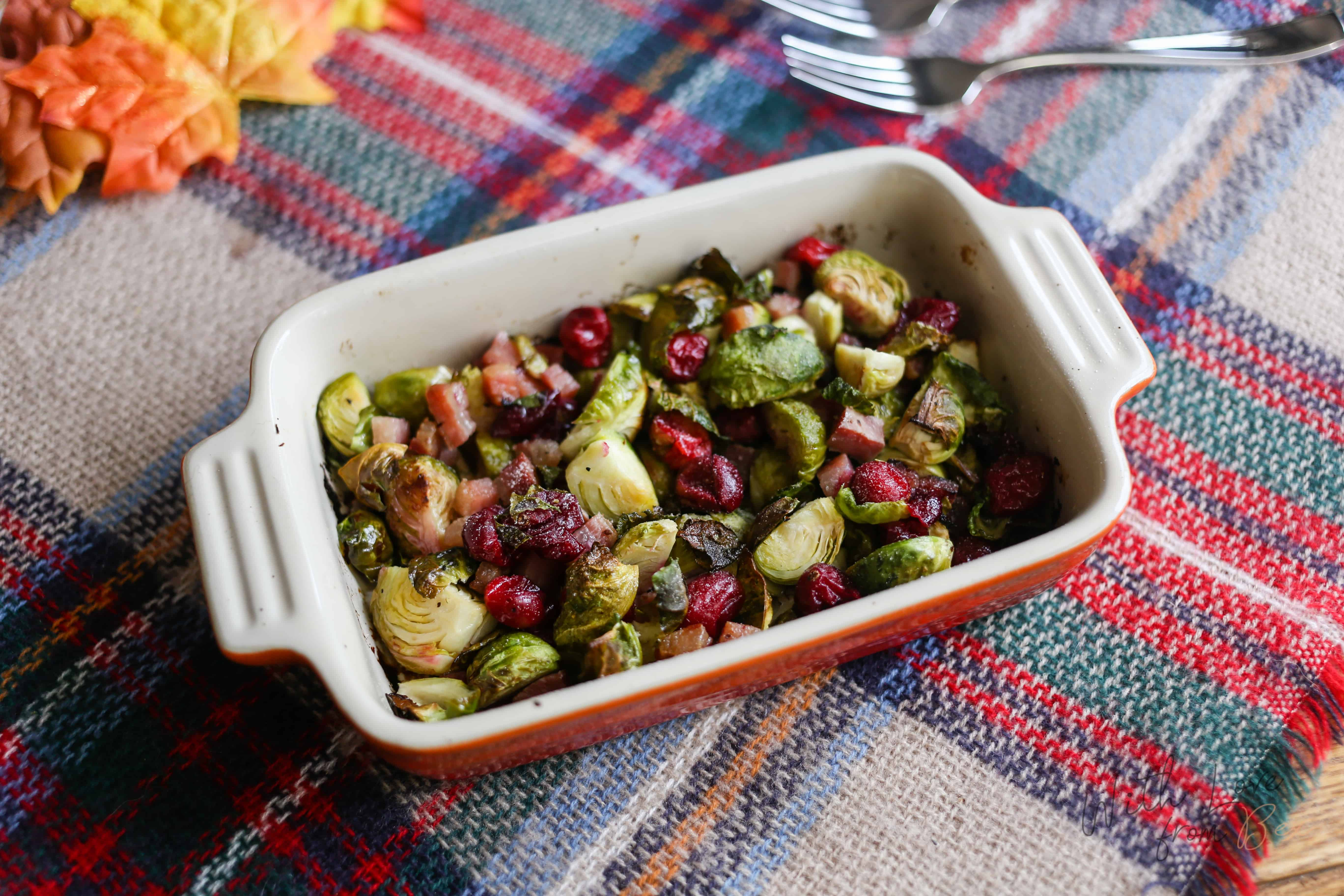 Pancetta Cranberry Brussel Sprouts