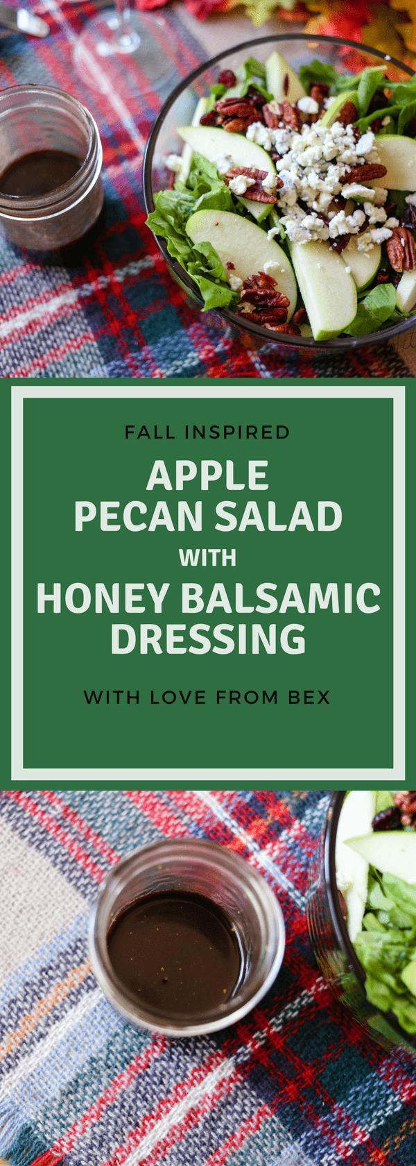 Apple Pecan Salad with Honey Balsamic dressing