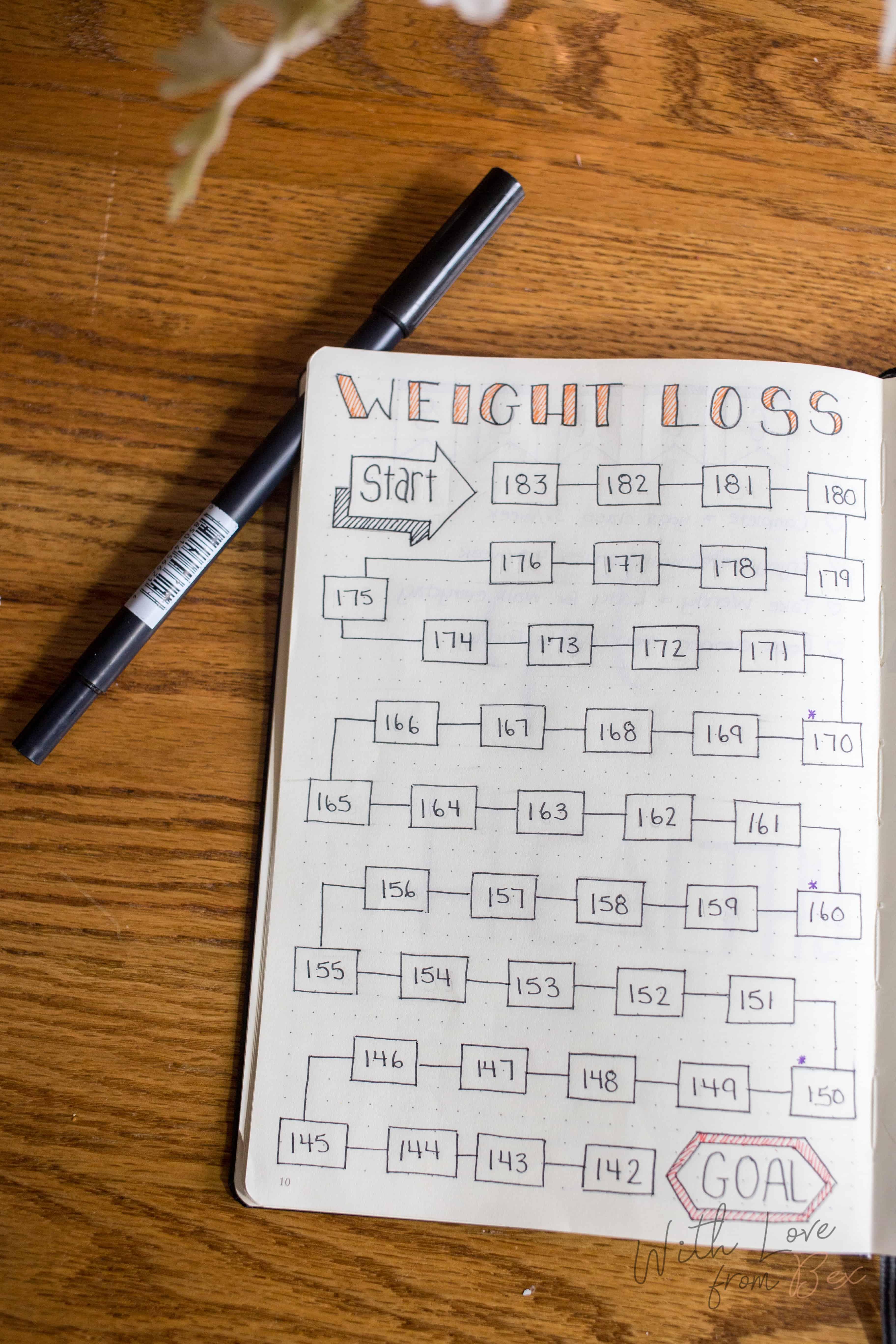 Weight Loss Bullet Journal
