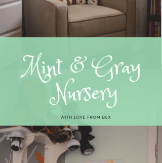 Nursery Mint and Gray Baby Girl