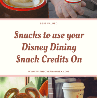 Disney World Dining Plan snack credits