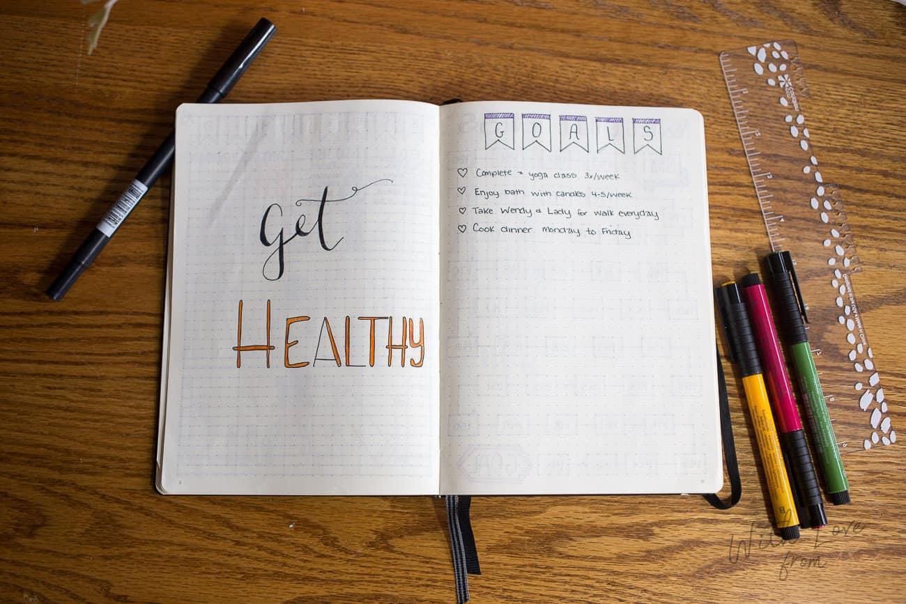 get healthy bullet journal